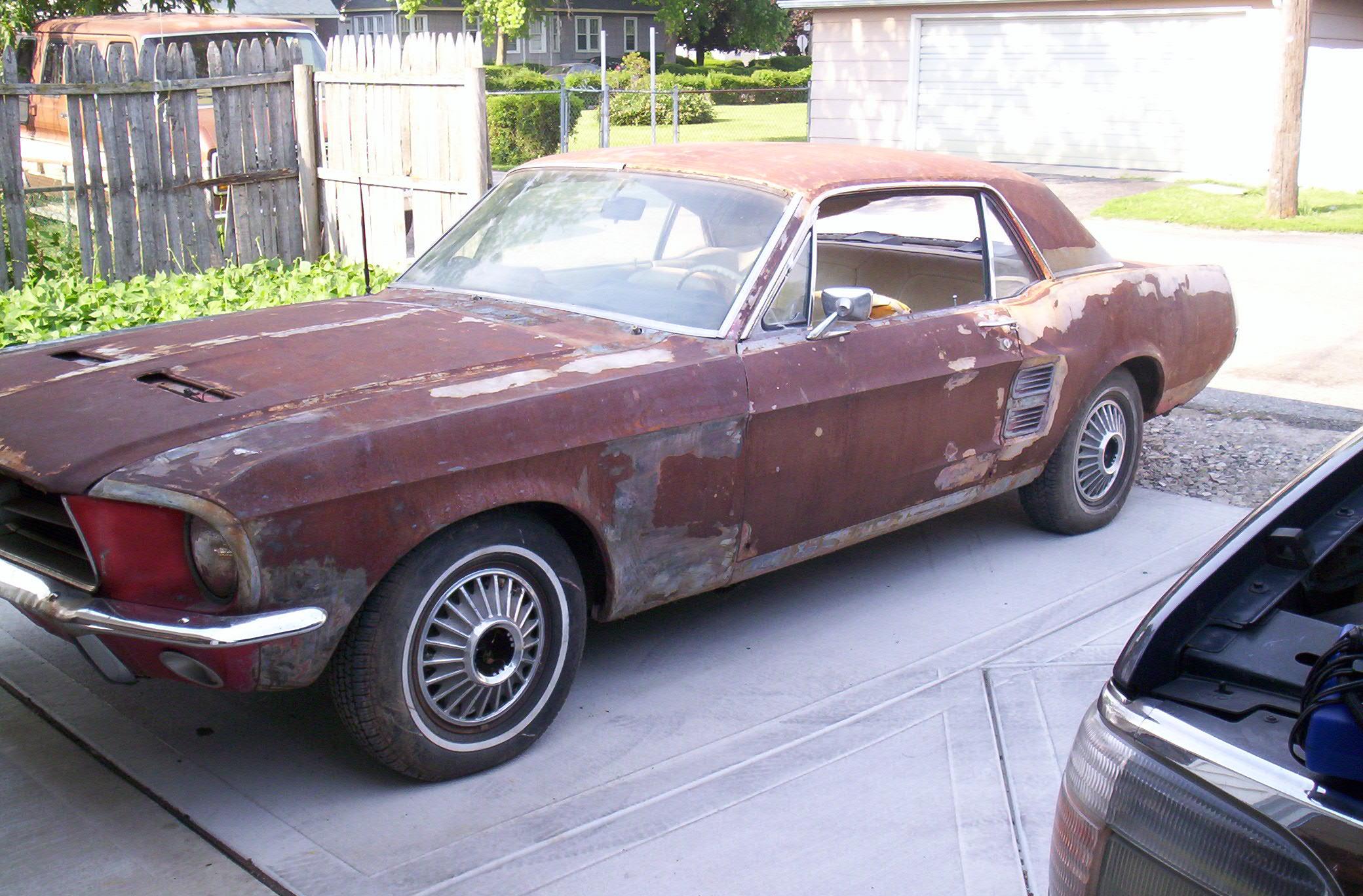 1967 ford mustang nano car restoration
